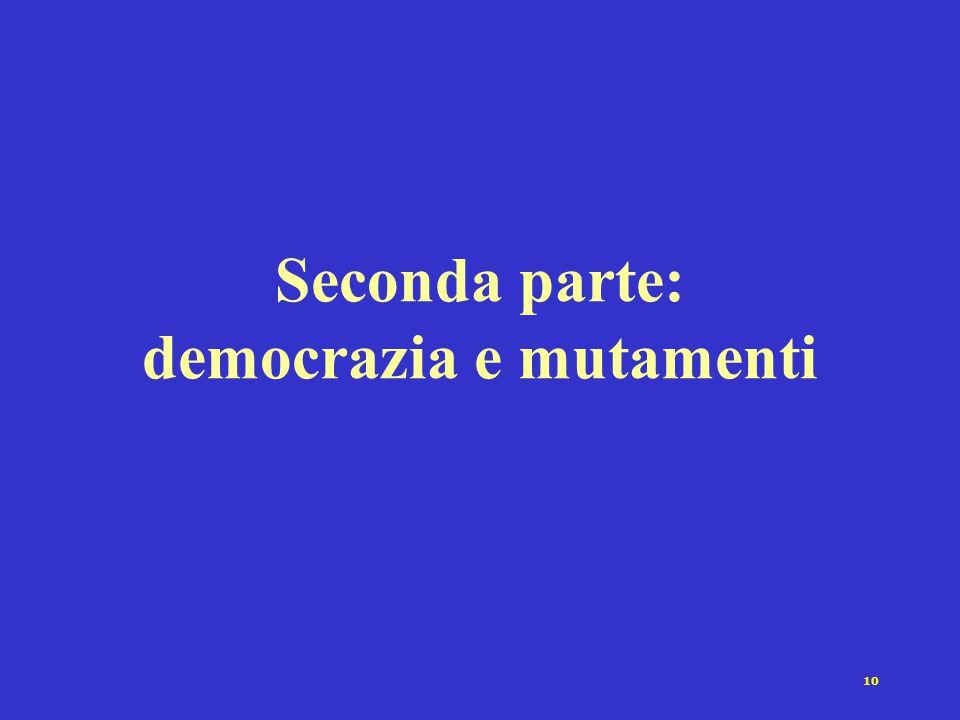 10 Seconda parte: democrazia e mutamenti