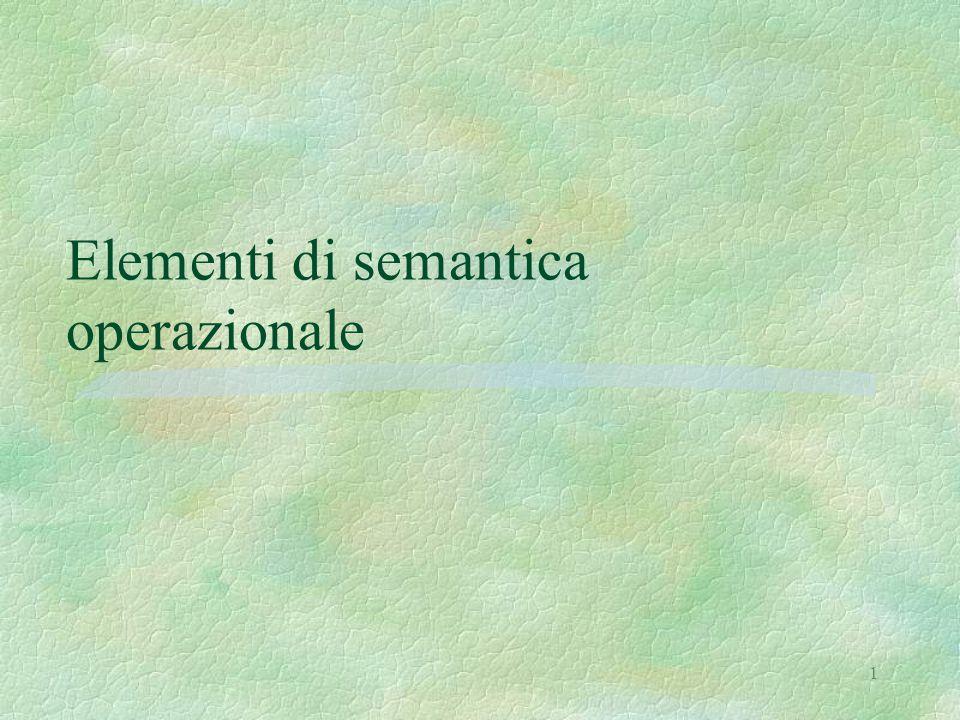 1 Elementi di semantica operazionale