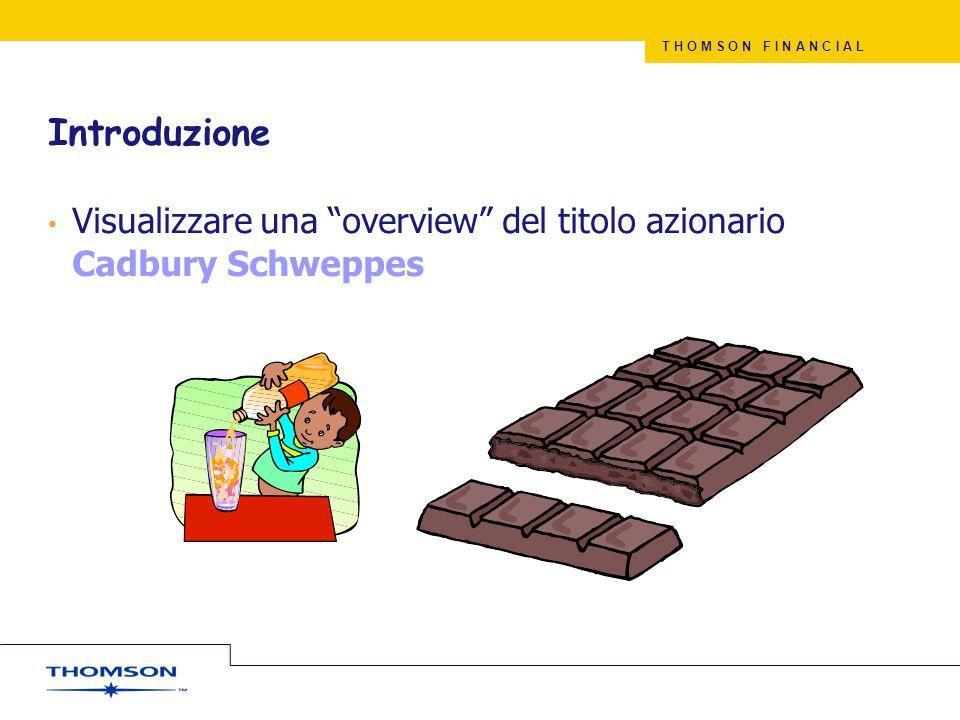 Introduzione Visualizzare una overview del titolo azionario Cadbury Schweppes