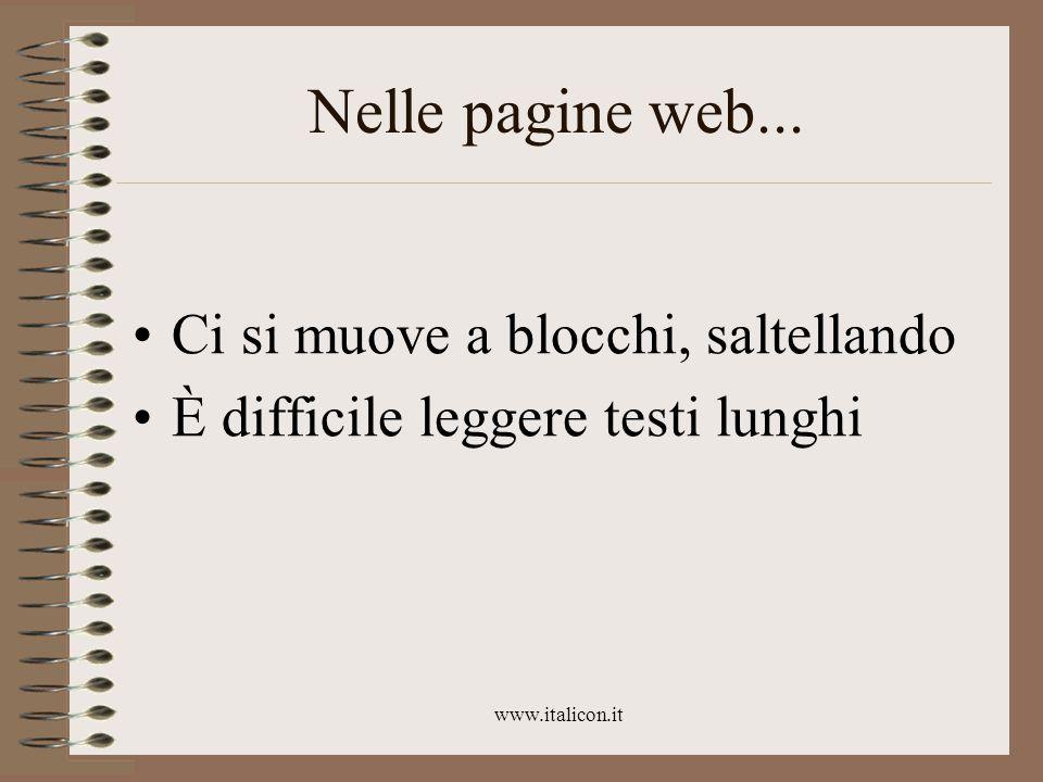 www.italicon.it Nelle pagine web...