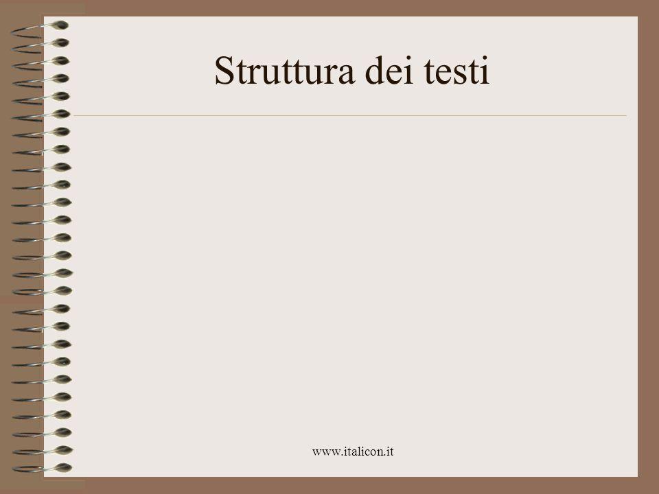 www.italicon.it Struttura dei testi