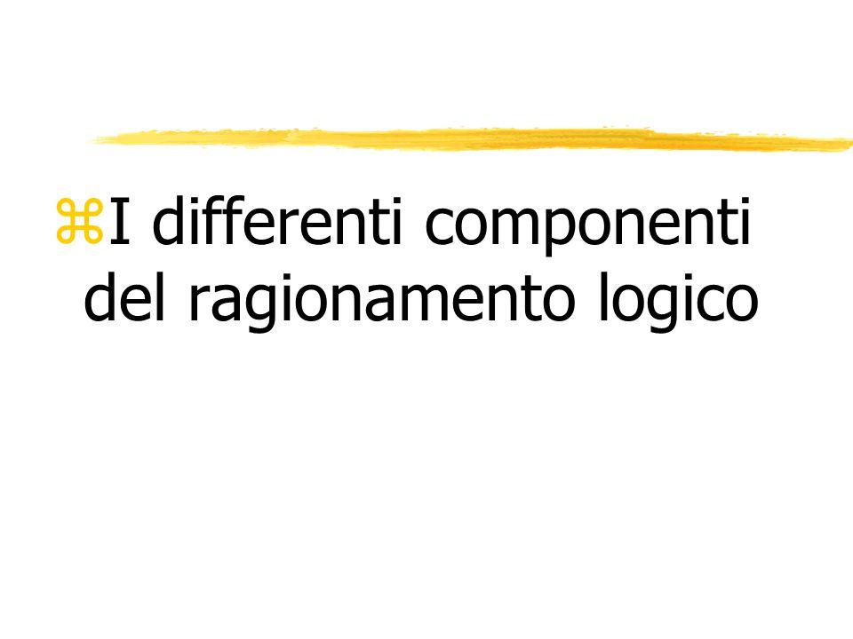 zI differenti componenti del ragionamento logico