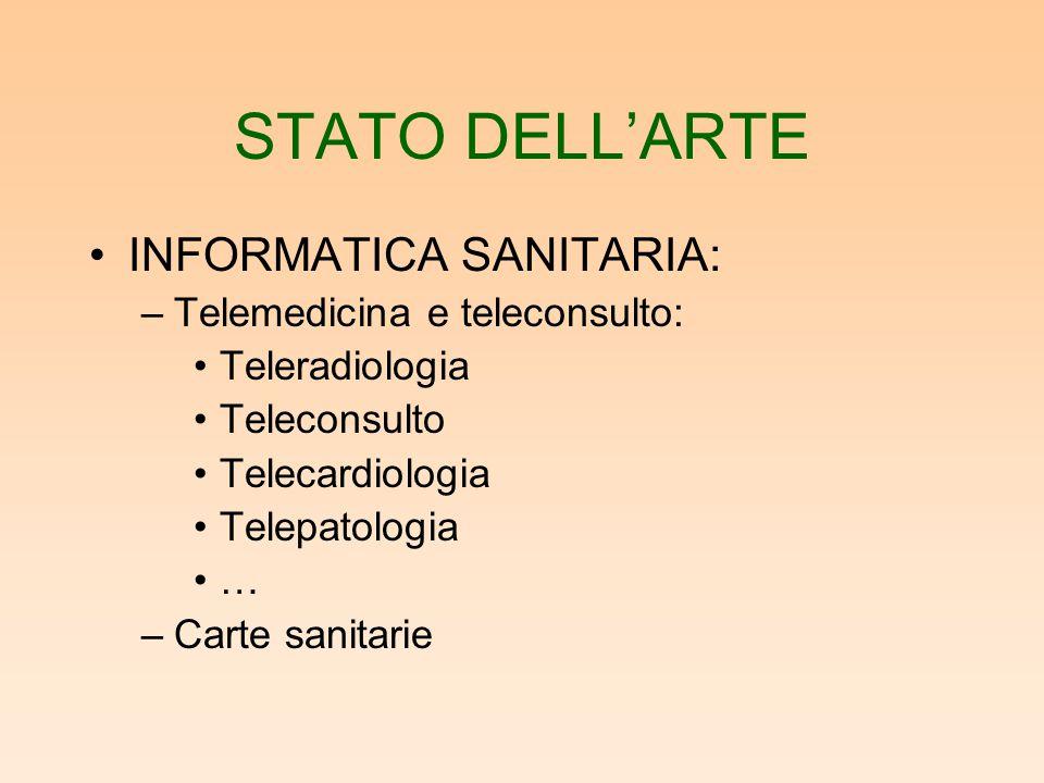 STATO DELL'ARTE INFORMATICA SANITARIA: –Uso del web in medicina: Medline Protocolli diagnostici e terapeutici Banche dati