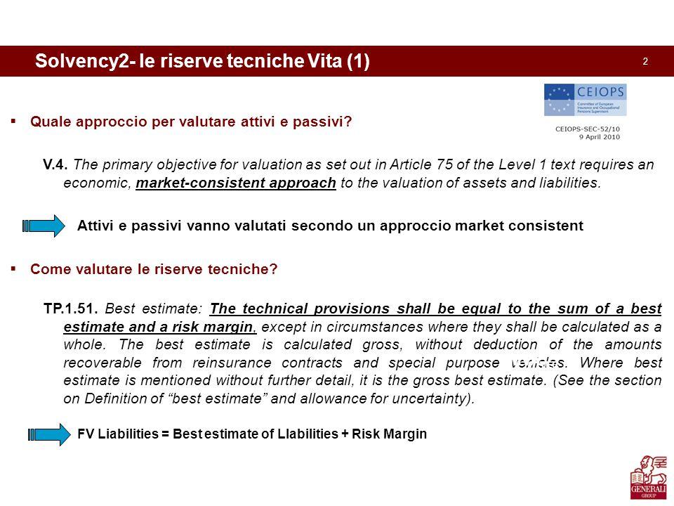 3 Solvency2- le riserve tecniche Vita (2)  Cosa significa Best Estimate of Liabilities .