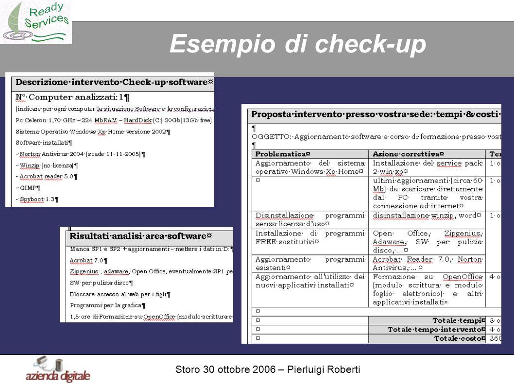 Storo 30 ottobre 2006 – Pierluigi Roberti Esempio di check-up
