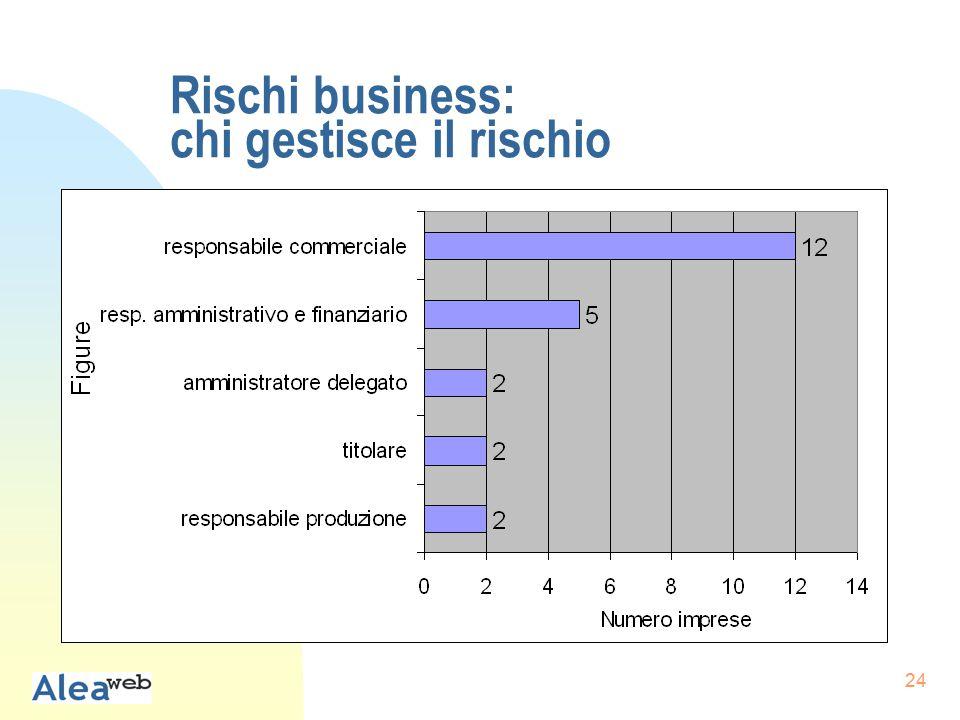 24 Rischi business: chi gestisce il rischio