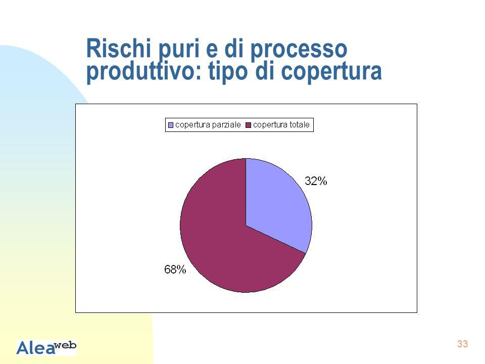 33 Rischi puri e di processo produttivo: tipo di copertura