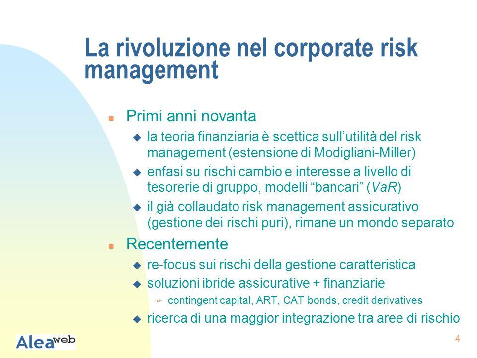 5 Dalla nuova visione del risk management...