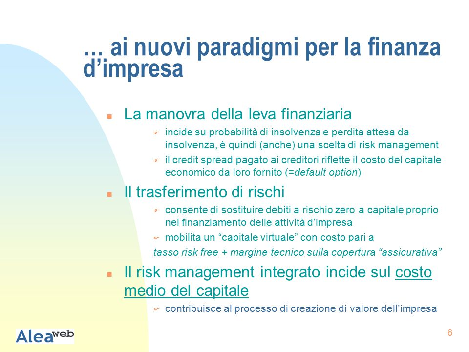67 Sviluppi della ricerca n Nuovi progetti u L'outosurcing della gestione finanziaria nelle piccole e medie imprese www.aleaweb.org/pmifin.nsf u AIFIRM - Alea, Survey sul corporate risk management.