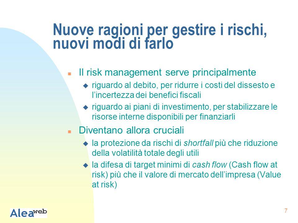18 Importanza misurazione e gestione dei rischi