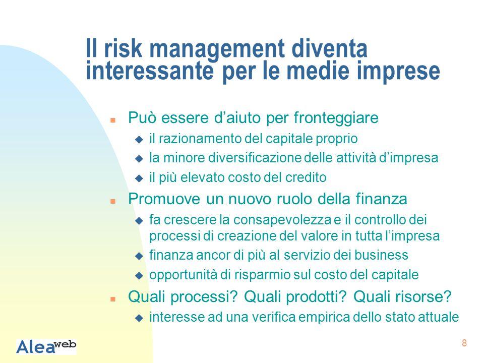 19 Importanza misurazione e gestione: percentuale di sì per settore