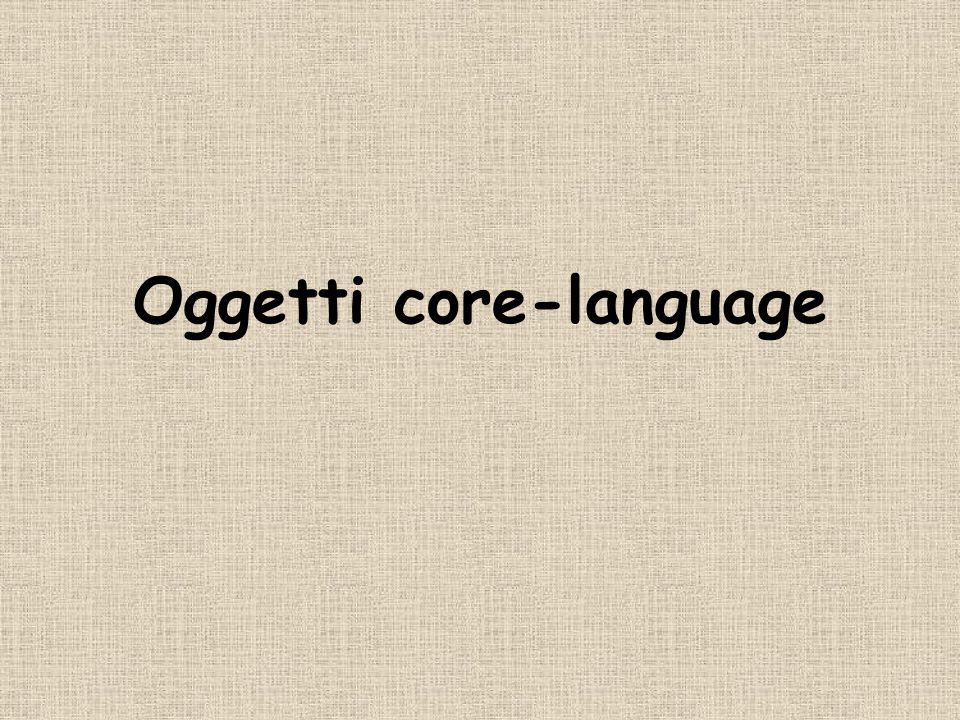 Oggetti core-language