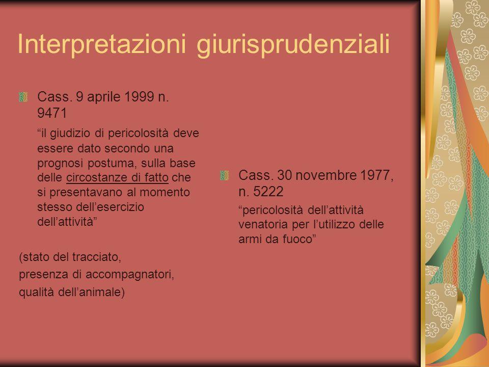 Interpretazioni giurisprudenziali Cass. 9 aprile 1999 n.