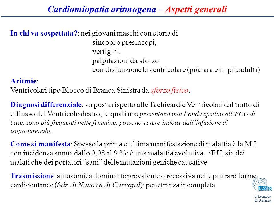 Cardiomiopatia aritmogena – La genetica 8 geni identificati dal 1988 Thiene et al.