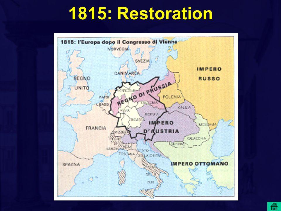 1815: Restoration
