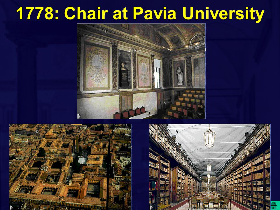 1778: Chair at Pavia University