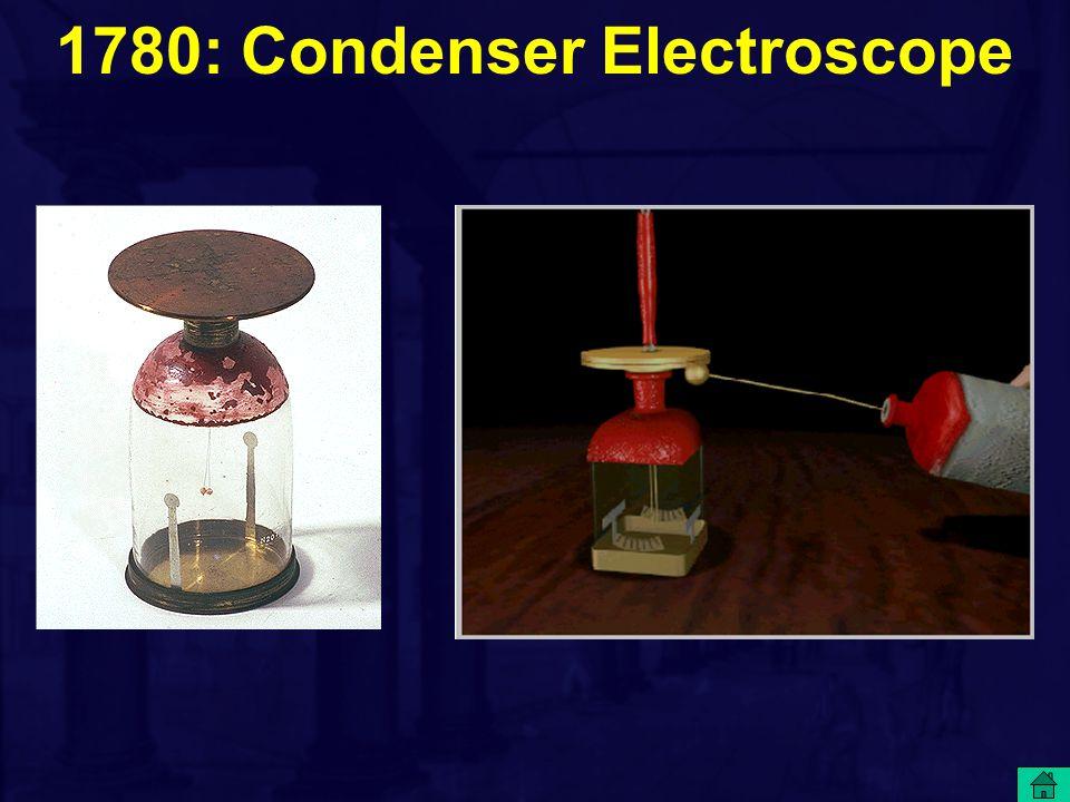1780: Condenser Electroscope