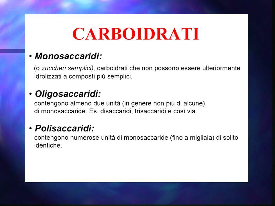 Il chetoso più semplice è il diidrossiacetone L'aldoso più semplice è la gliceraldeide triosi Diidrossiacetone e gliceraldeide hanno tre atomi di carbonio e sono detti triosi CH 2 OH C CH 2 OH O