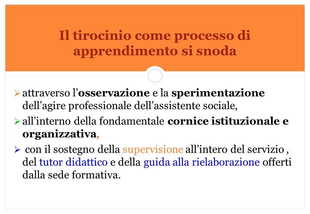 Marilena DELLAVALLE - Università di Torino-2014 Il tirocinio come processo di apprendimento si snoda  attraverso l'osservazione e la sperimentazione