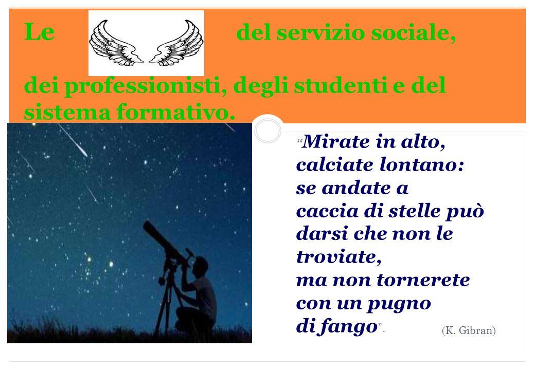 """Marilena DELLAVALLE - Università di Torino-2014 Le del servizio sociale, dei professionisti, degli studenti e del sistema formativo. ( K. Gibran ) """" M"""