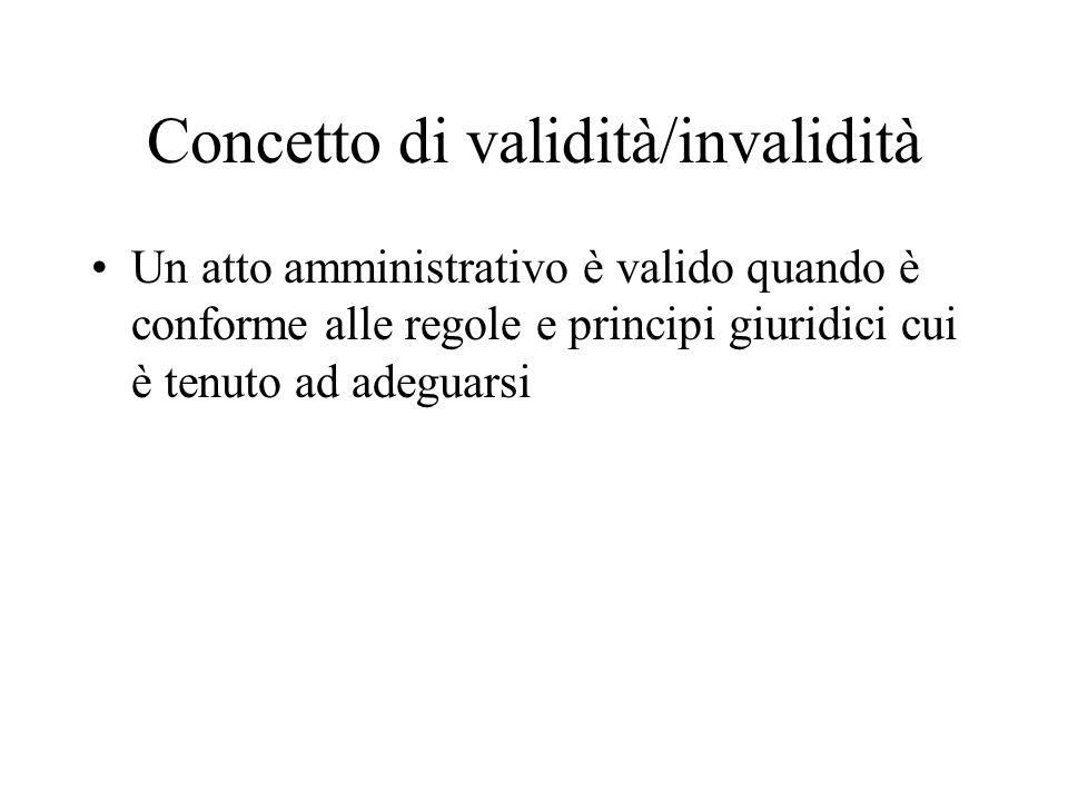 Interdipendenza tra validità ed efficacia Un atto invalido può produrre effetti ossia essere efficace Un atto valido può non essere efficace (ad es.
