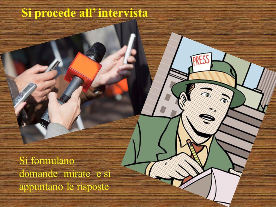 Ogni risposta, ogni informazione, ogni idea viene registrata accuratamente