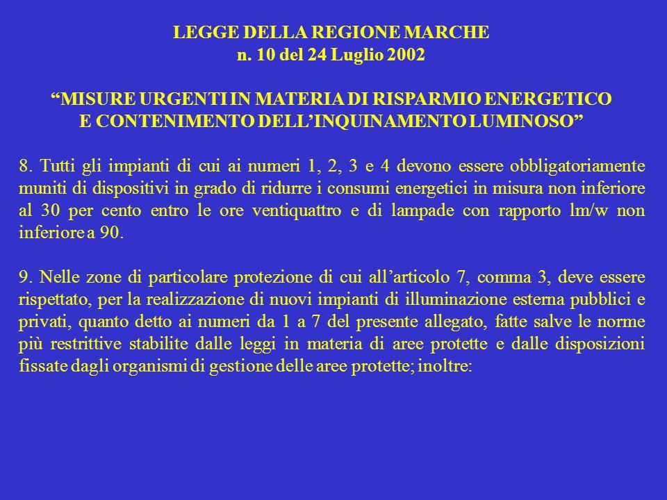LEGGE DELLA REGIONE MARCHE n.