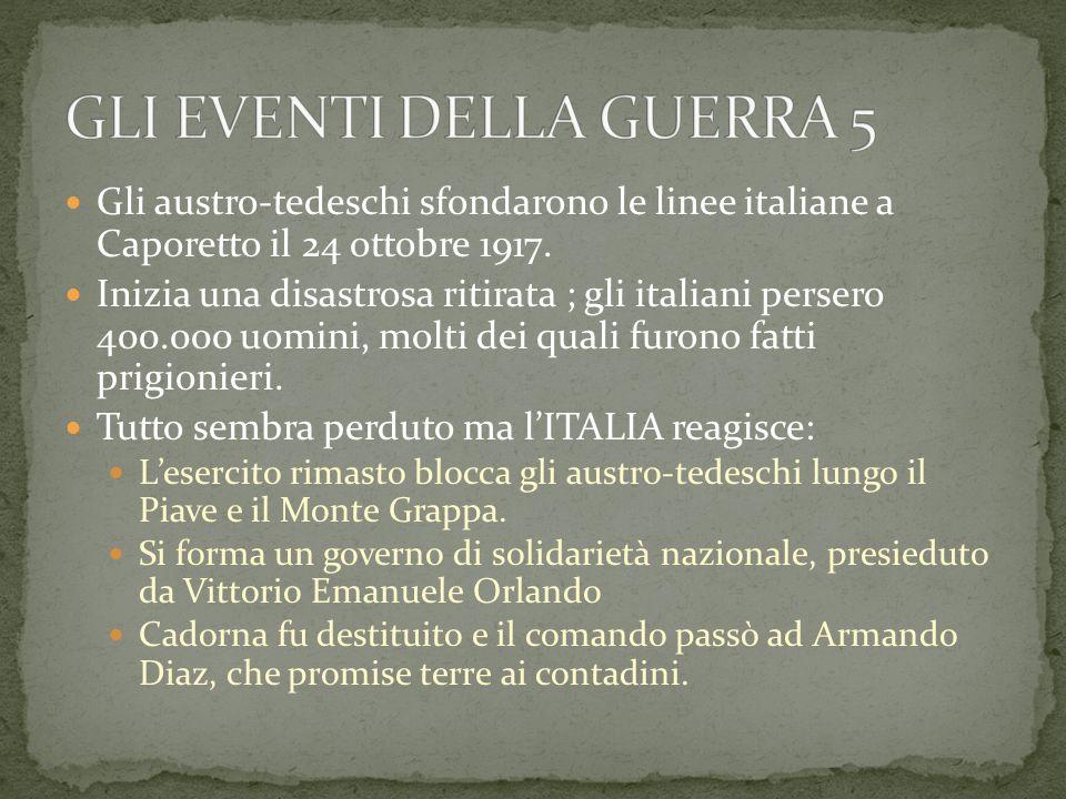 Gli austro-tedeschi sfondarono le linee italiane a Caporetto il 24 ottobre 1917.