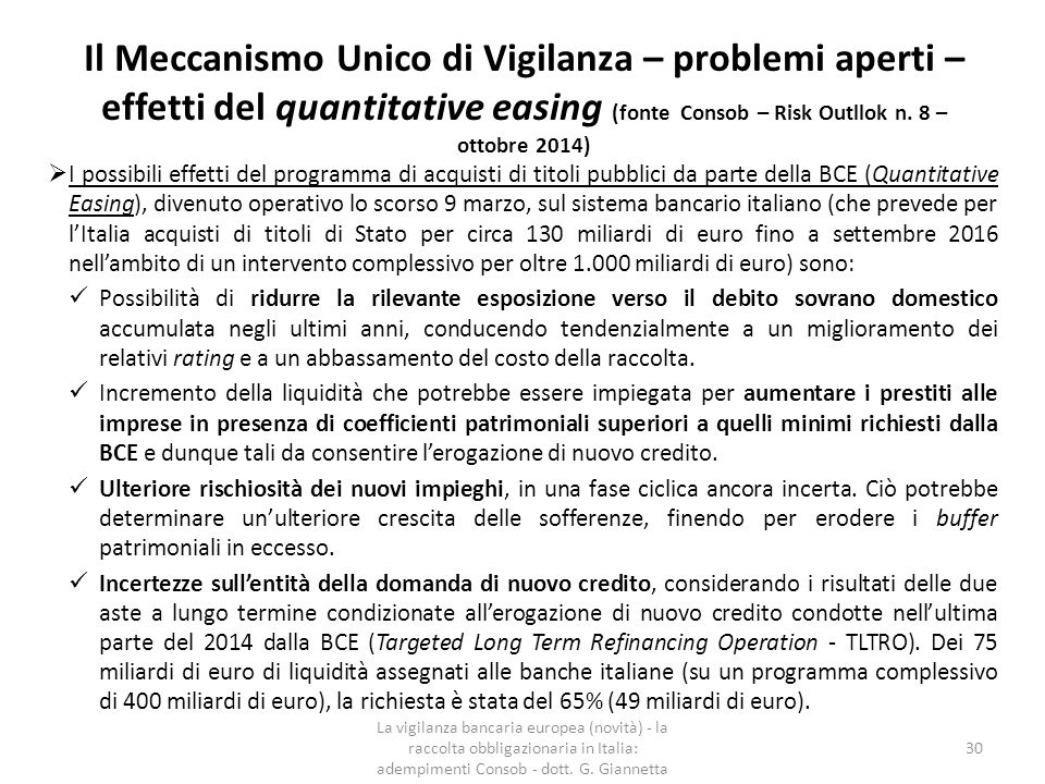 Il meccanismo unico per la risoluzione delle crisi bancarie Il Single Resolution Mechanism (SRM), come il Meccanismo Unico di Supervisione, si applicherà a tutte le banche dei paesi dell'Eurozona.