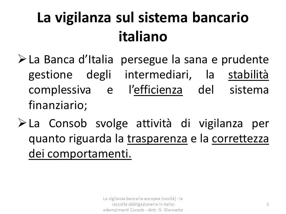 Il progetto di unione bancaria europea Il progetto di unione bancaria europea prevede la creazione di tre diversi sistemi:  una vigilanza bancaria europea (Single Supervisory Mechanism - SSM);  una procedura di risoluzione delle crisi (Single Resolution Mechanism - SRM)  una procedura unitaria dei sistemi di garanzia dei depositi DGS (Deposit Guarant Schemes (Bank Recovery and Resolution Directive BRRD).