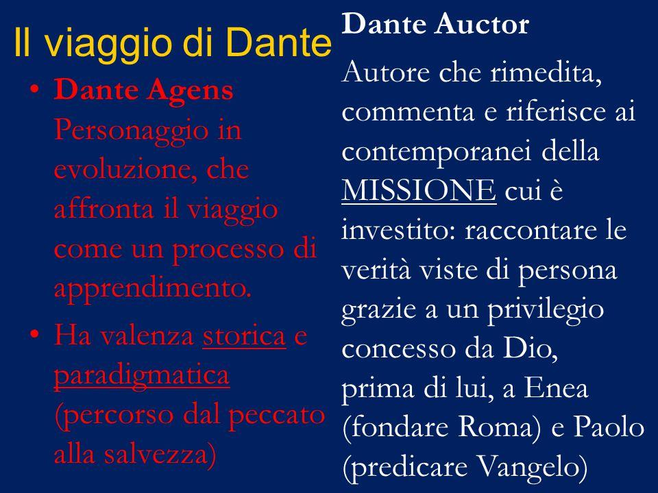 Il viaggio di Dante Dante Agens Personaggio in evoluzione, che affronta il viaggio come un processo di apprendimento.