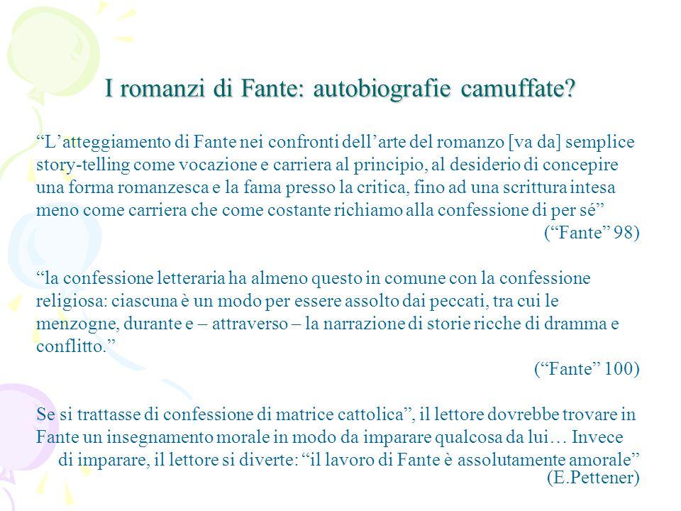 I romanzi di Fante: autobiografie camuffate.