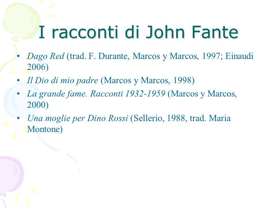 I racconti di John Fante Dago Red (trad. F.