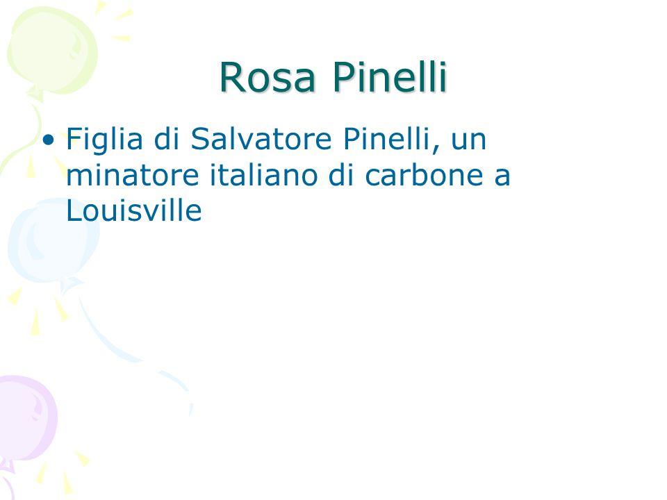 Rosa Pinelli Figlia di Salvatore Pinelli, un minatore italiano di carbone a Louisville