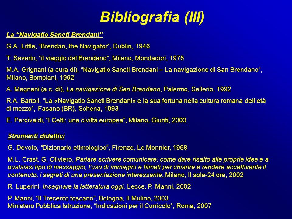 """Bibliografia (III) Strumenti didattici G. Devoto, """"Dizionario etimologico"""", Firenze, Le Monnier, 1968 M.L. Crast, G. Oliviero, Parlare scrivere comuni"""