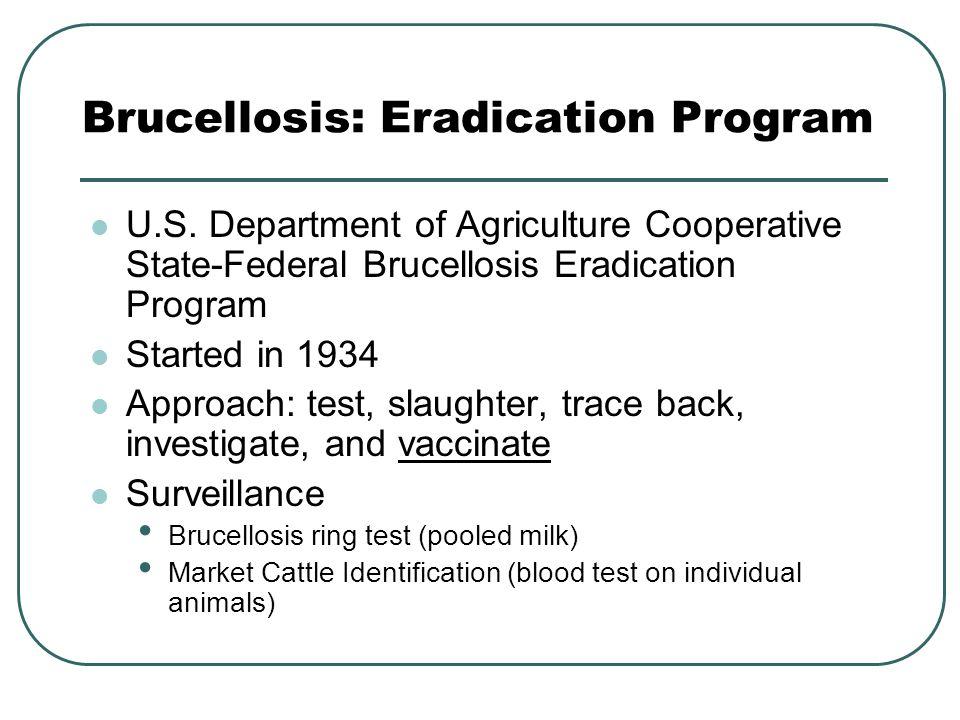 Brucellosis: Eradication Program U.S.