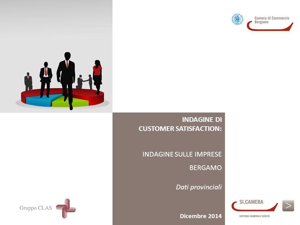 INDAGINE DI CUSTOMER SATISFACTION: INDAGINE SULLE IMPRESE BERGAMO Dati provinciali Dicembre 2014