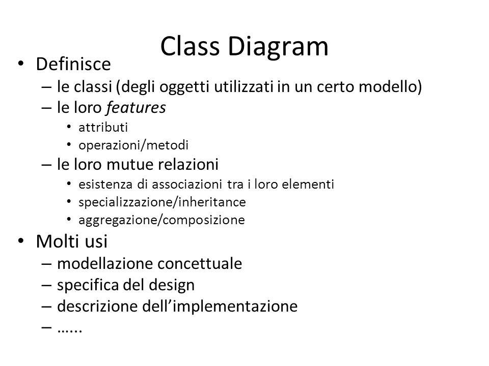 Starting point Basato sugli usuali concetti OO – classe – oggetto – specializazzione – ….