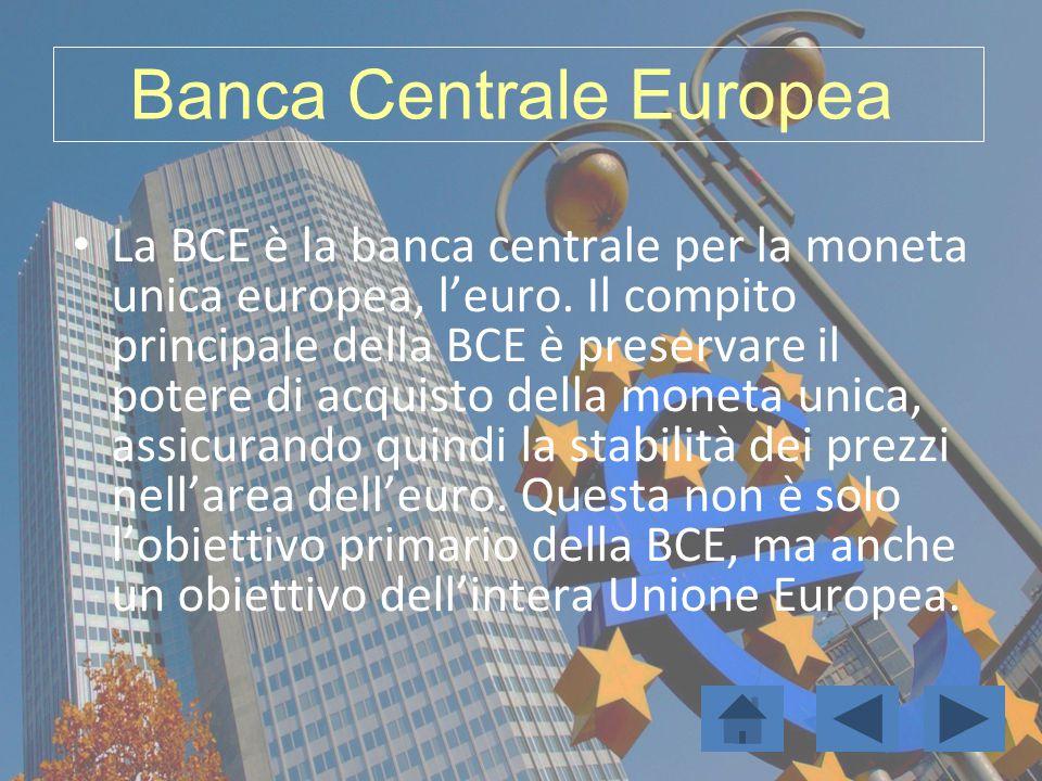 La BCE è la banca centrale per la moneta unica europea, l'euro. Il compito principale della BCE è preservare il potere di acquisto della moneta unica,