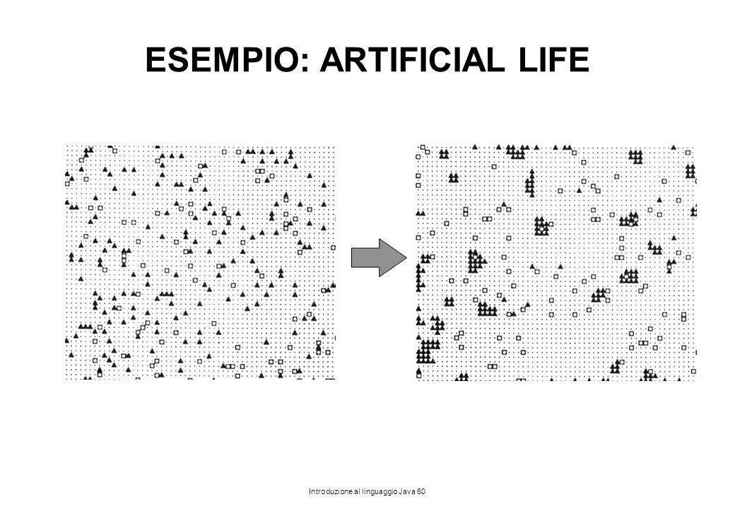 Introduzione al linguaggio Java 60 ESEMPIO: ARTIFICIAL LIFE