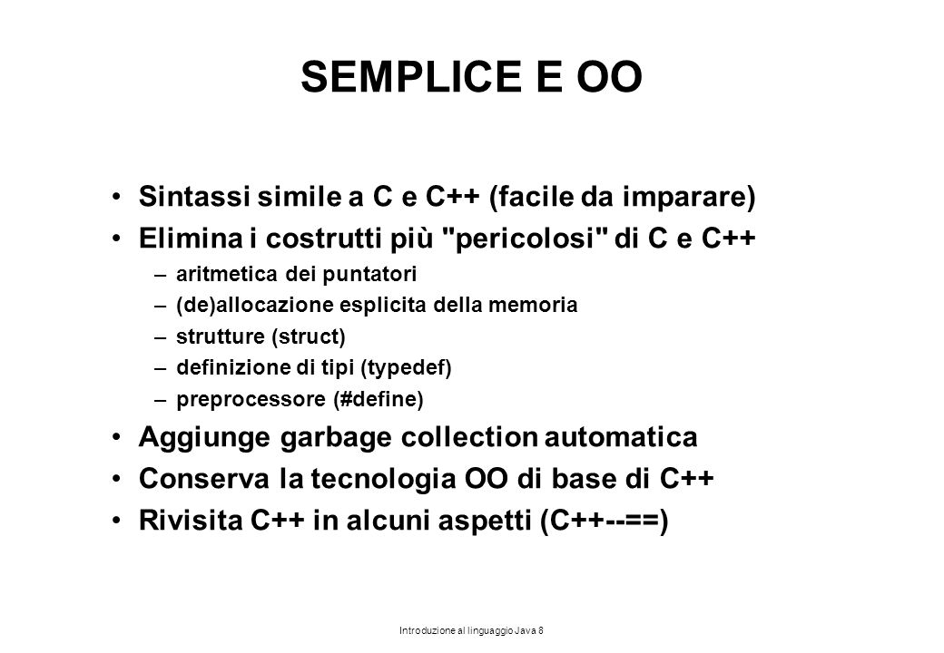 Introduzione al linguaggio Java 179 ESEMPIO 2.2 public class drinks { public static void main(String[] a) { Coffee th1=new Coffee(); Tea=th2 new Tea() ; } class Coffee extends Thread { public void run() { while(true) { System.out.println( I like coffee );} } Coffee() { start(); } } class Tea extends Thread { public void run() { while(true) { System.out.println( I like tea );} } Tea() { start(); } } In questo esempio, ogni thread si lancia da solo