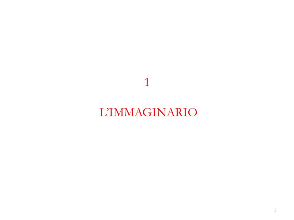 1 L'IMMAGINARIO 1
