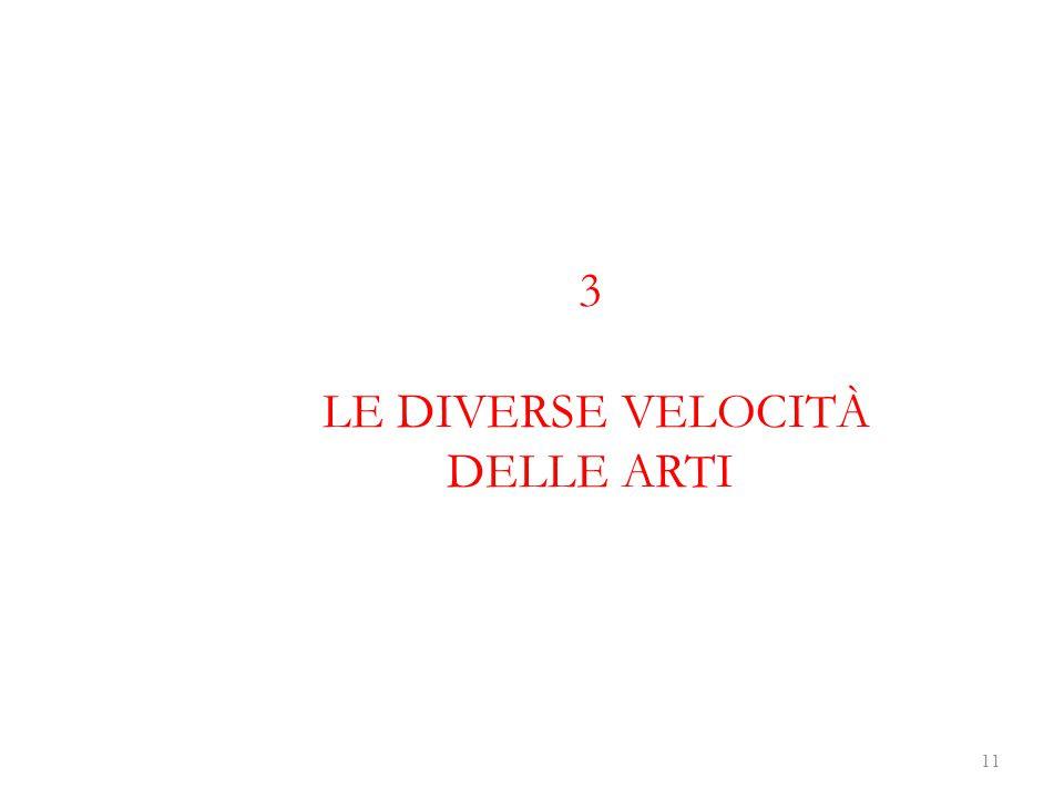 3 LE DIVERSE VELOCITÀ DELLE ARTI 11