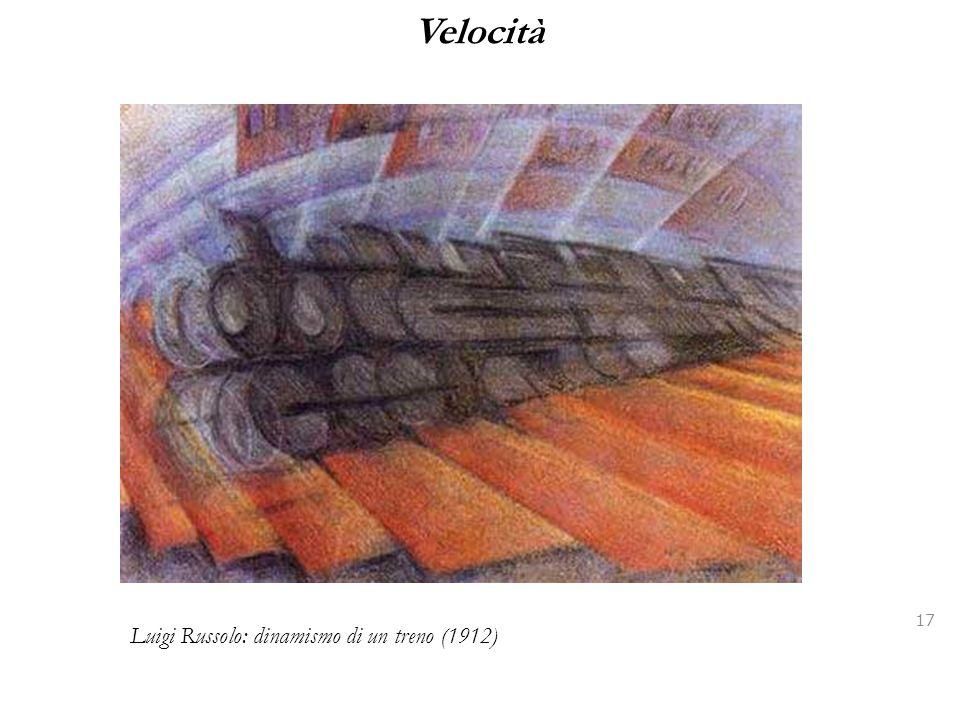 Velocità 17 Luigi Russolo: dinamismo di un treno (1912)
