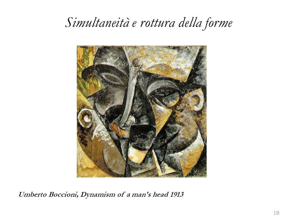 Simultaneità e rottura della forme 18 Umberto Boccioni, Dynamism of a man's head 1913