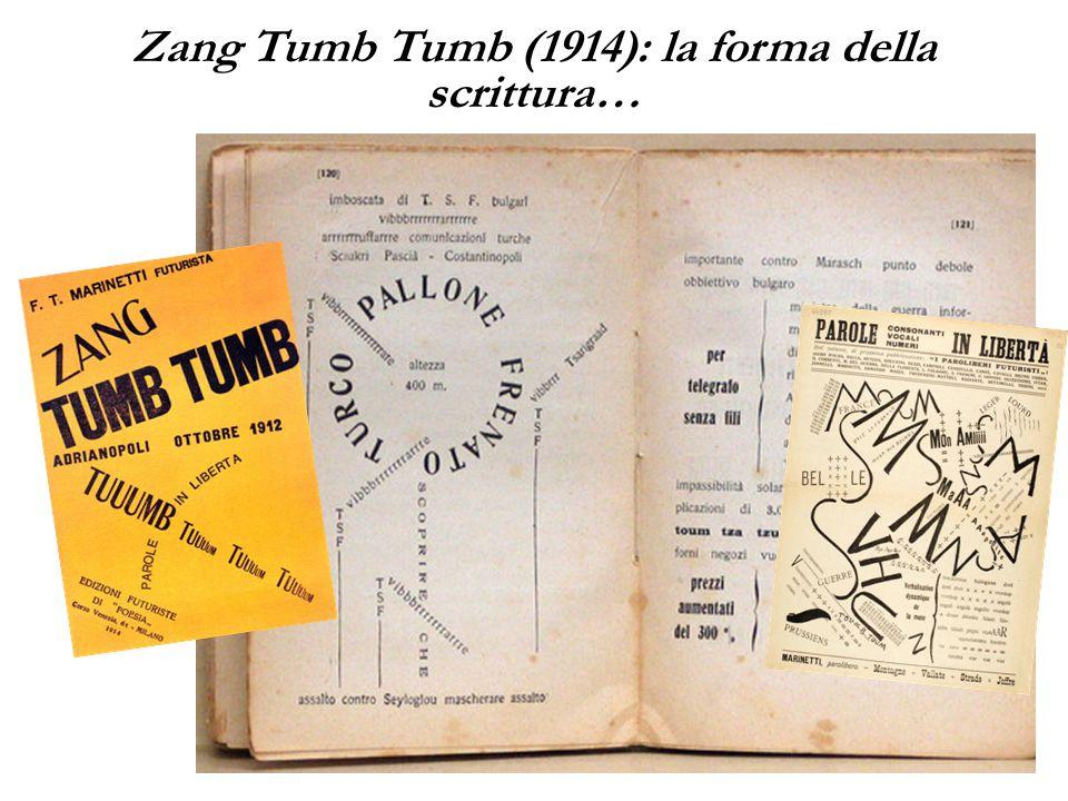 25 Zang Tumb Tumb (1914): la forma della scrittura…