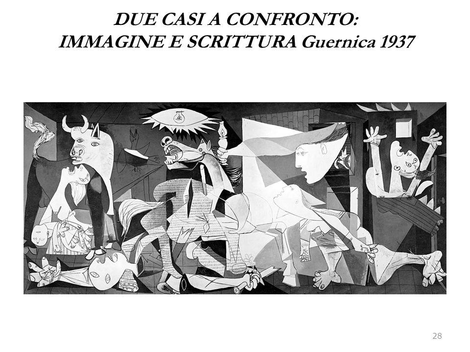 DUE CASI A CONFRONTO: IMMAGINE E SCRITTURA Guernica 1937 28