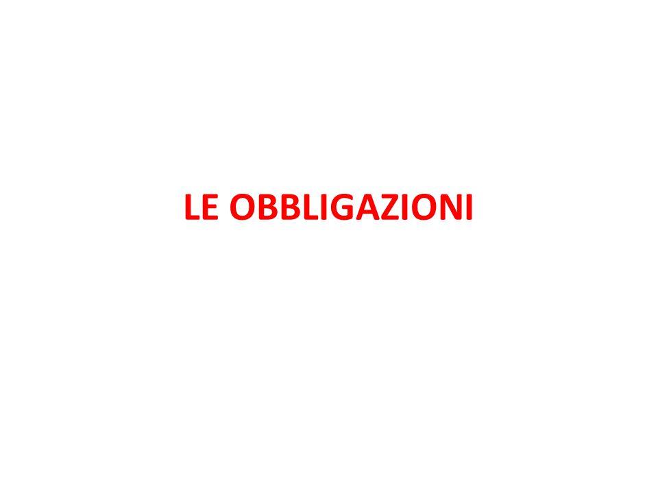 OBBLIGAZIONE L'Obbligazione è un rapporto giuridico in forza del quale il DEBITORE è tenuto ad eseguire una prestazione patrimoniale a favore del CREDITORE.