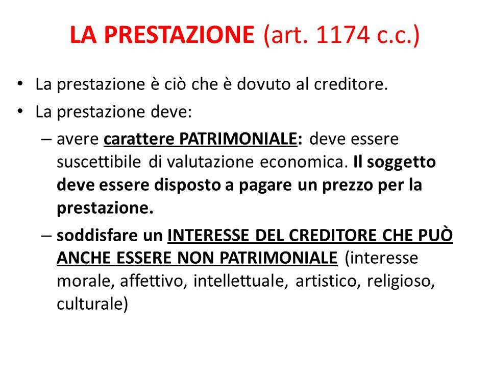 Comportamento secondo correttezza (art.1175 c.c.) Il contenuto della prestazione è stabilito dal titolo.