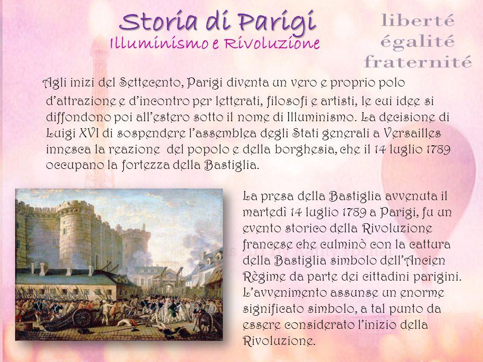 Storia di Parigi Agli inizi del Settecento, Parigi diventa un vero e proprio polo d'attrazione e d'incontro per letterati, filosofi e artisti, le cui